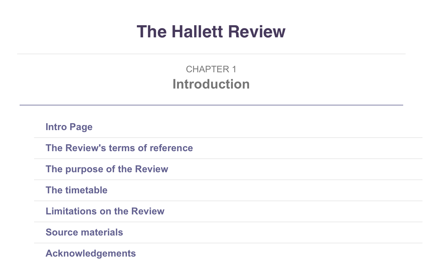The Independent Hallett Review