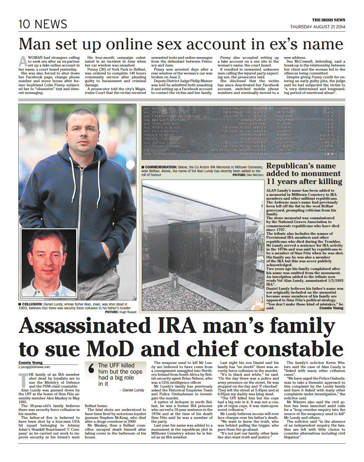 Assassinated IRA man's family to sue MoD and chief constable